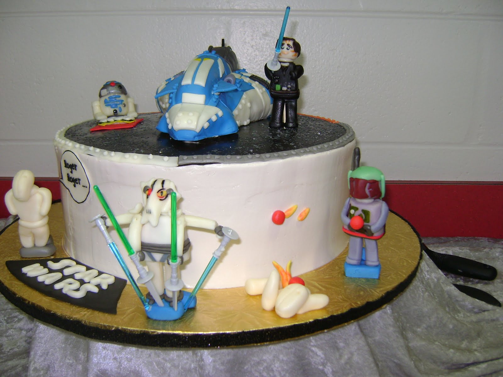 Achieving Bakers Bliss Lego Star Wars Birthday Cake