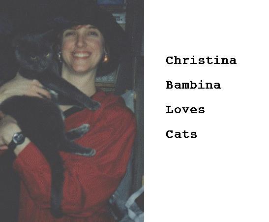Christina Bambina Loves Cats