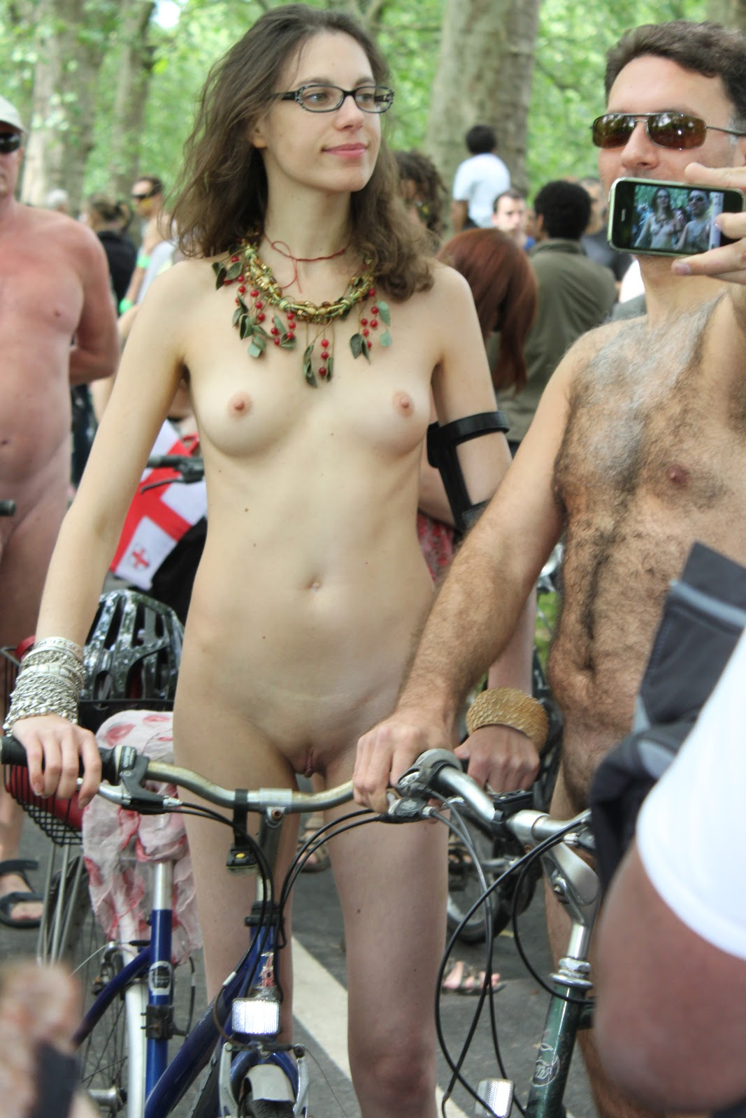 Accept. opinion, Naked females on bicycle