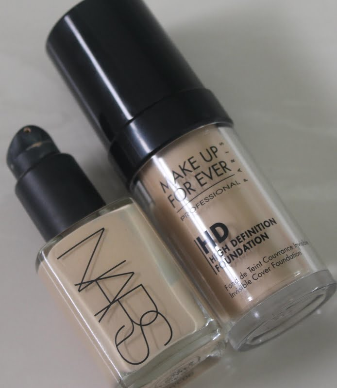 The Dark Side of Beauty: NARS 'Sheer Glow' VS Make Up For Ever 'HD ...