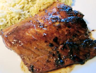 Salmon Marinated in Oriental Sauce