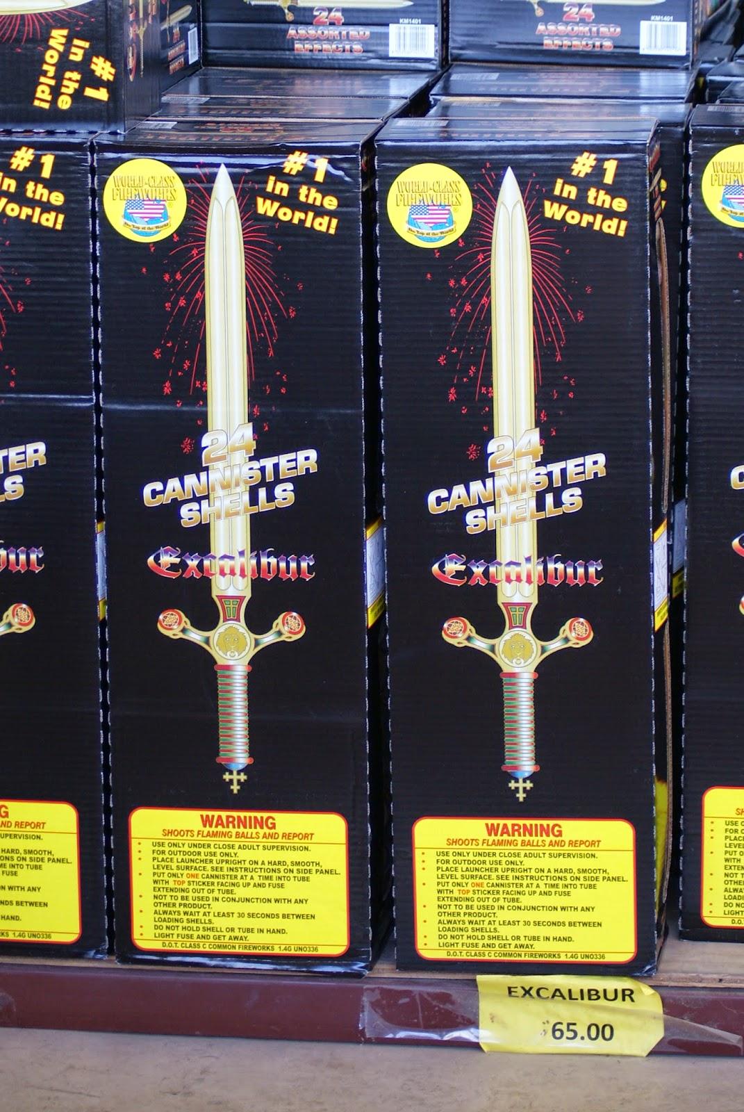 Excalibur Firework Sword