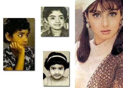 tamil hindi actress Sridevi Childhood photos