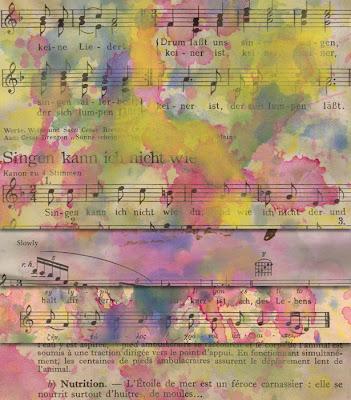textura papel pintado con fondo musical en alta resolución