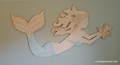 mosaic mermaid wall art