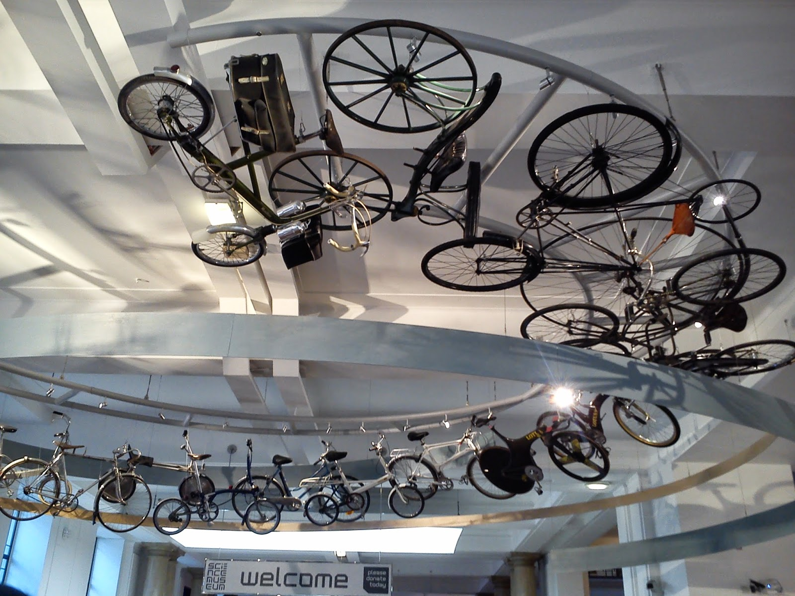 london science museum bikes