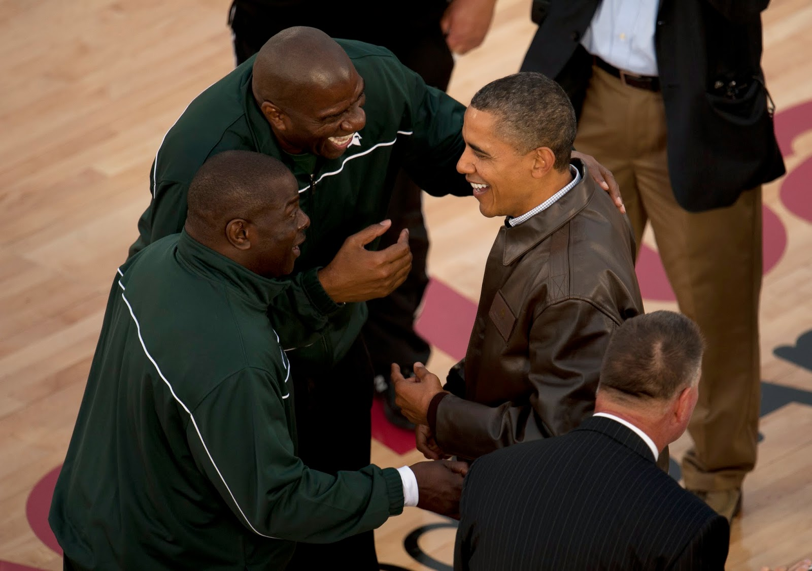 Magic Johnson and President Obama