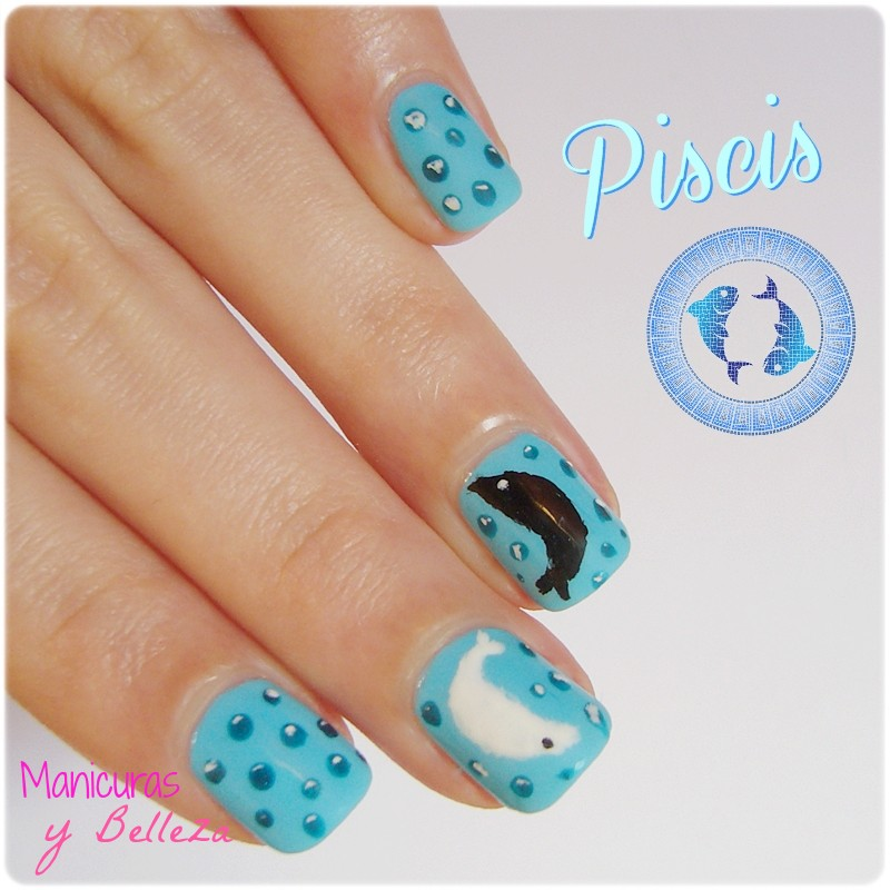 Uñas del zodiaco Piscis
