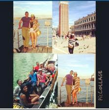 Omotola Jalade and family on holiday in Italy