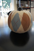Argyle Painted Pumpkin