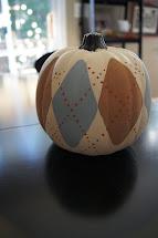 Argyle Painted Pumpkin