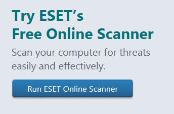 eset online scanner site