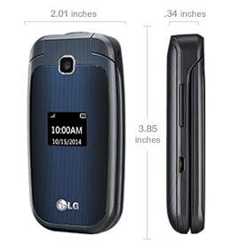 ponsel flip LG 450