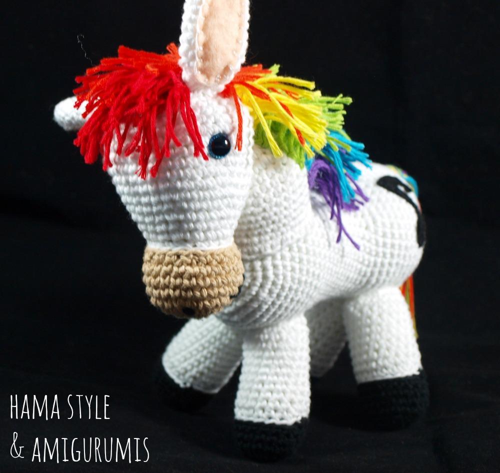 Marta Ruso Crochet Creativo: Caballo arco iris Amigurumi - [PATRÓN ...