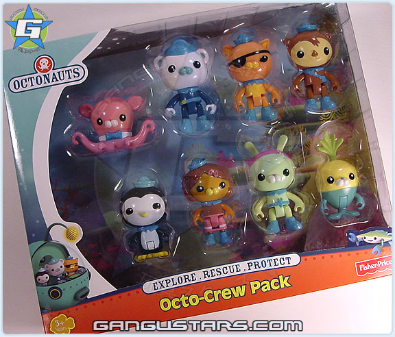 すすめ!オクトノーツ おもちゃ Fisher-Price Octonauts Octo-Crew Pack Kwazii Barnacles Tweak