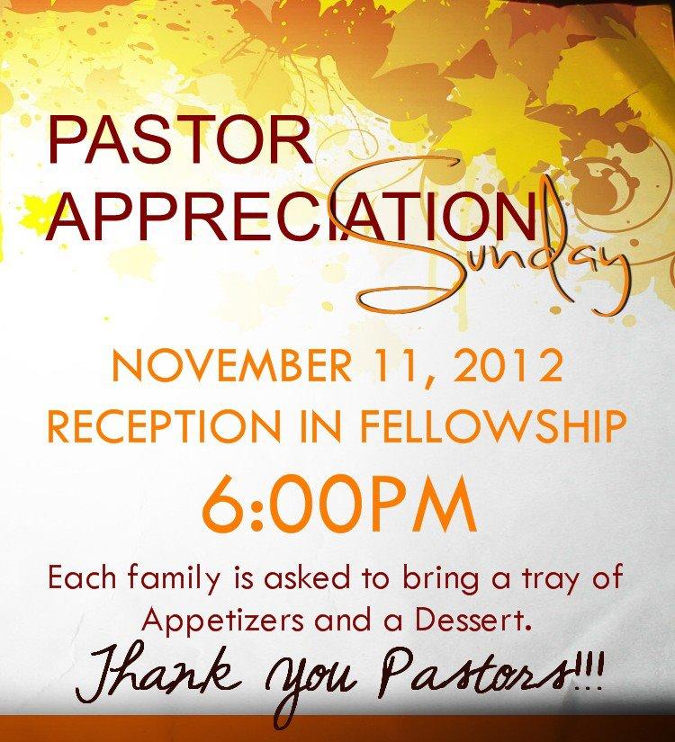 Gallery For > Pastor Appreciation