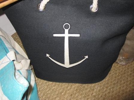Bolsa playa negra áncora.