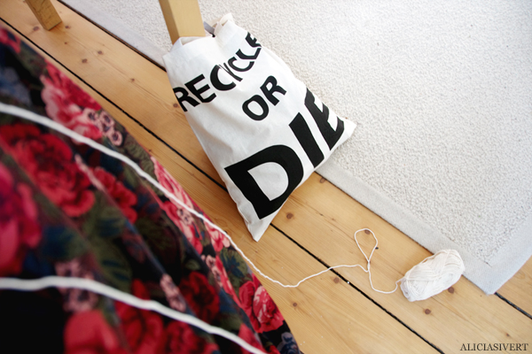 aliciasivert, alicia sivertsson, recycle or die, yarn, knitting, tote bag, tygkasse, kasse, återvinn, garn, sticka, stickning