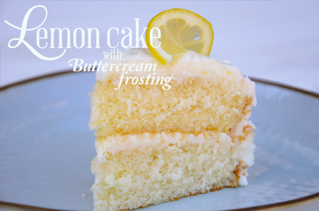 Image for a recipe for lemon cake with buttercream frosting