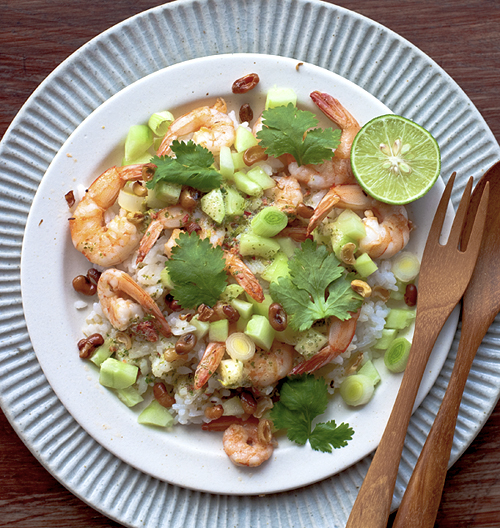Yummy Supper: PRAWN, LIME, CILANTRO, AND COCONUT RICE SALAD