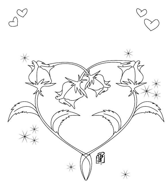 Desenho de um Coração Rosa para colorir Hello Kids - imagens para colorir coração