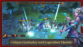 Screenshots of the Demonrock War of Ages for Android tablet, phone.