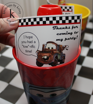 Cars 2 Birthday Party favors | kreations by kristy