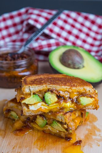 Bacon Jam and Avocado Grilled Cheese Sandwich on Closet Cooking
