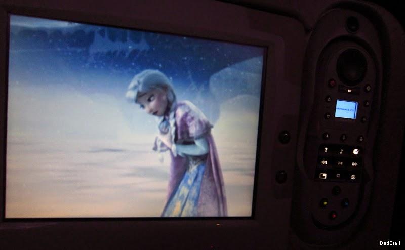 Film La Reine des Neiges dans un Airbus A380