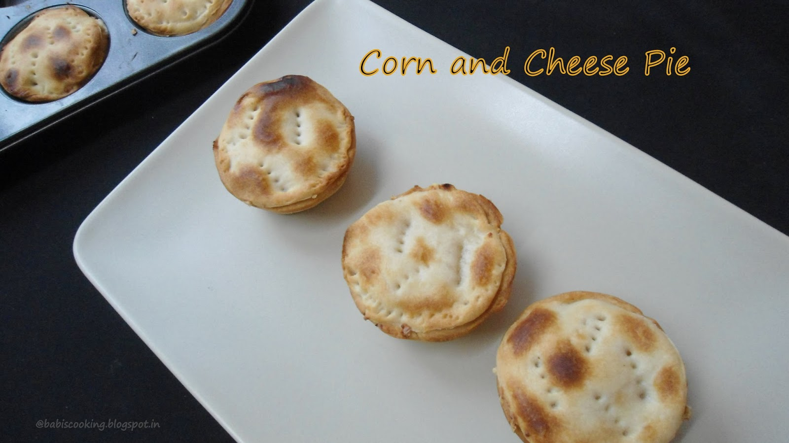 Corn and Cheese Pie | Savory Pie | Eggless Baking Group