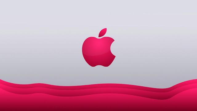 Logo de Apple en rosado