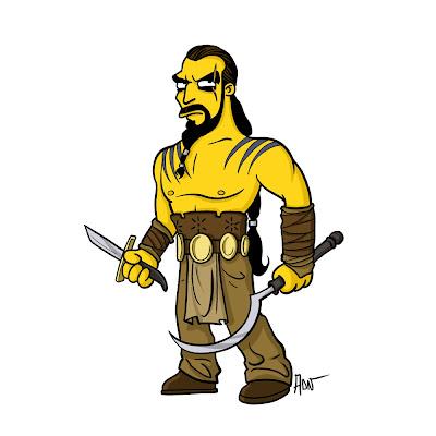 Khal Drogo los simpsons - Juego de tronos en los siete reinos