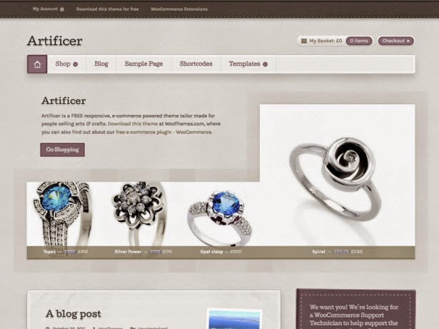 Artificer Woocommerce theme