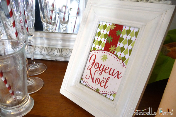 Sweet table Noël vert bienvenue / Evergreen Christmas welcome sign