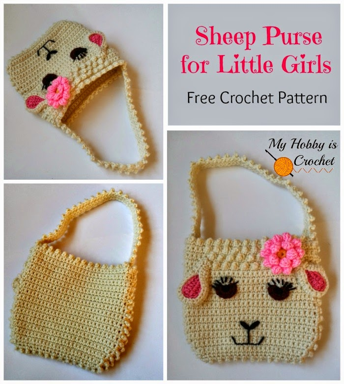 My Hobby Is Crochet Darling Sheep Crochet Purse For Little Girls