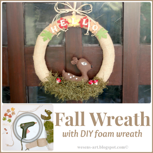 DIY FoamWreath sample   wesens-art.blogspot.com