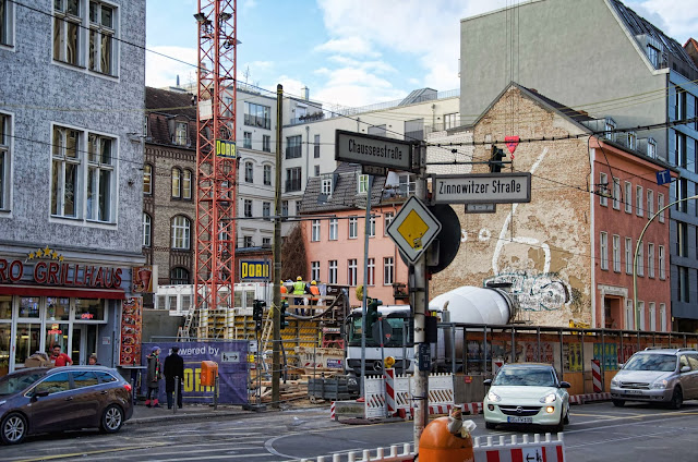 Baustelle Living 108, 128 Wohnungen, Chaussestraße 108 / Zinnowitzer Straße, 10115 Berlin, 06.02.2014