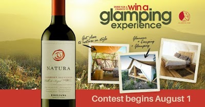 #SipAndGlamp Photo Contest: Win a Luxury Camping Trip with Natura Wines & Glamping Hub