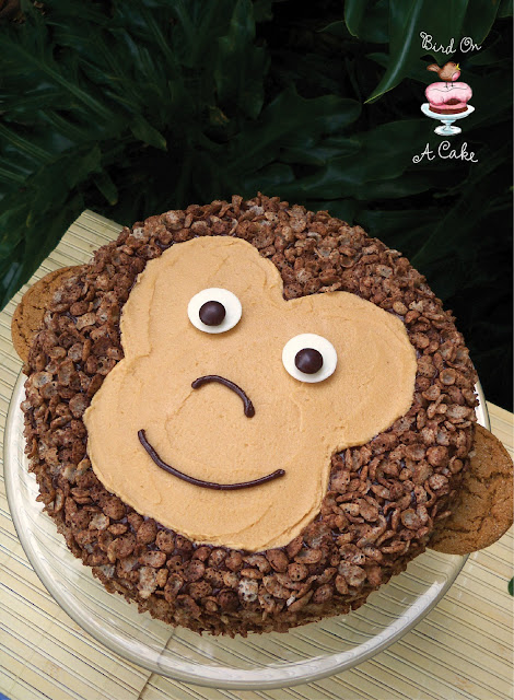 Birthday Cake Ideas Monkey : Bird On A Cake: Peanut Butter Chocolate Monkey Cake