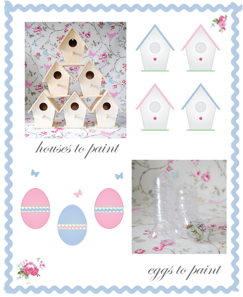 Easter craft bird houses by Torie Jayne