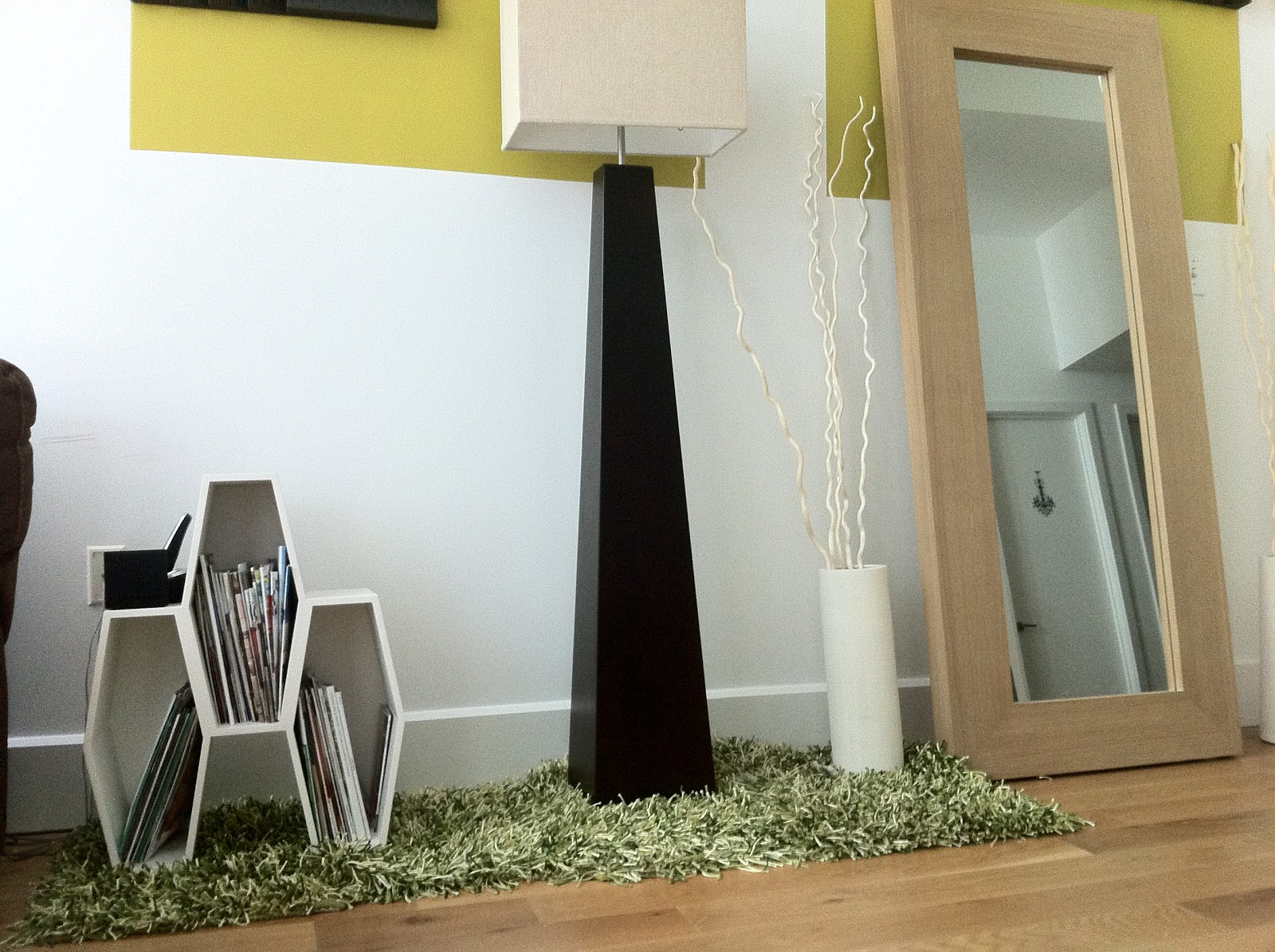 Loft episodes adventures with astro turf for Chunky wooden floor lamp