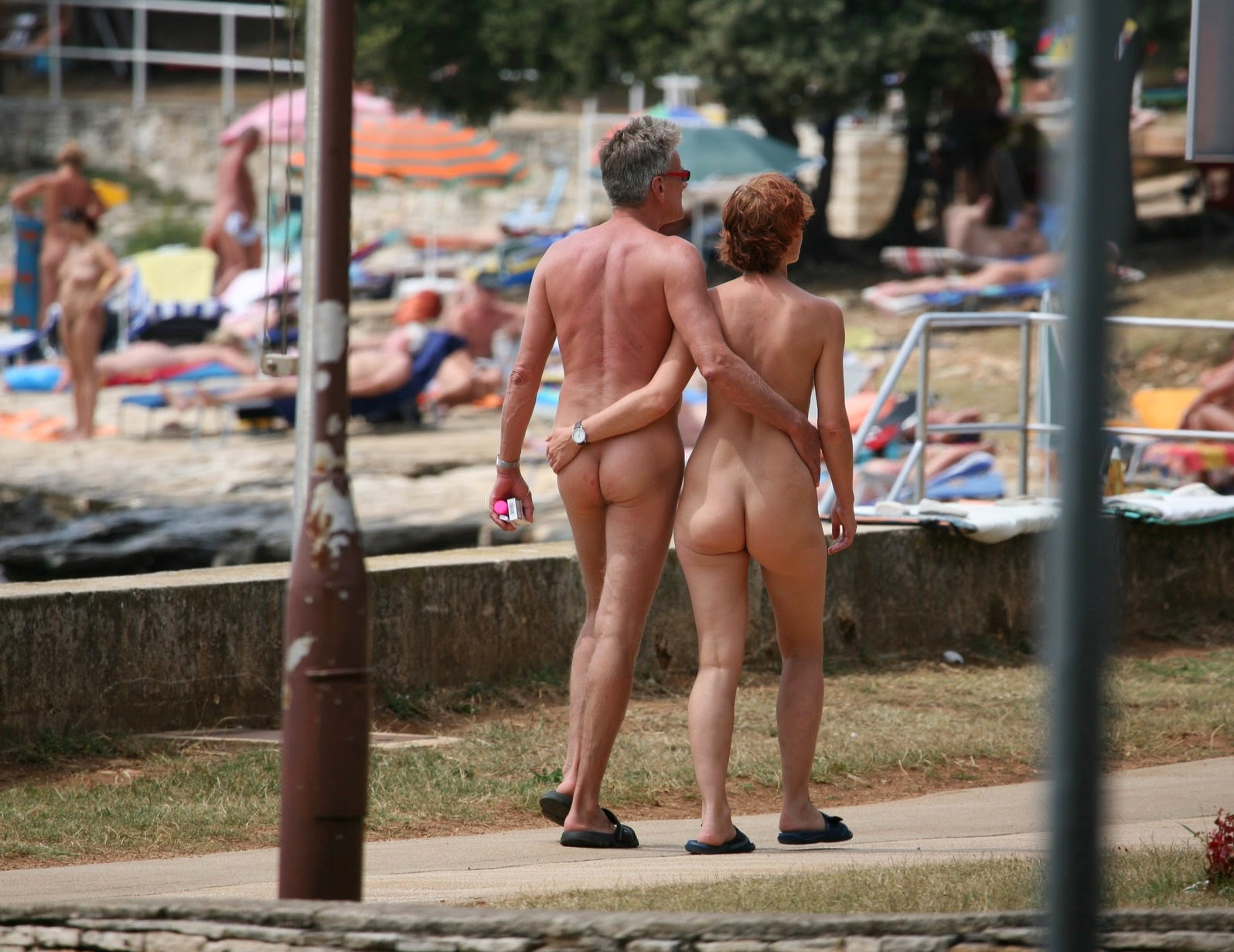 from Damian young couple camping naked