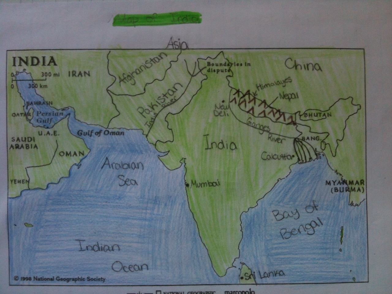 Little piece of tape ancient india interactive notebooks map of india publicscrutiny Images