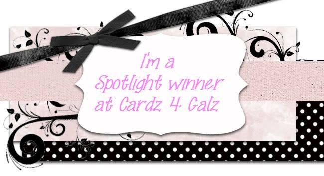 Spotlight winner at Cardz 4 Galz