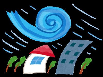 台風のイラスト(自然災害)