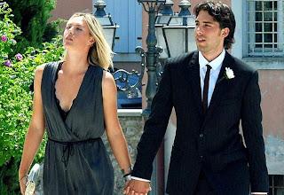 Maria Sharapova Boyfriend Sasha Vujacic going in a Party