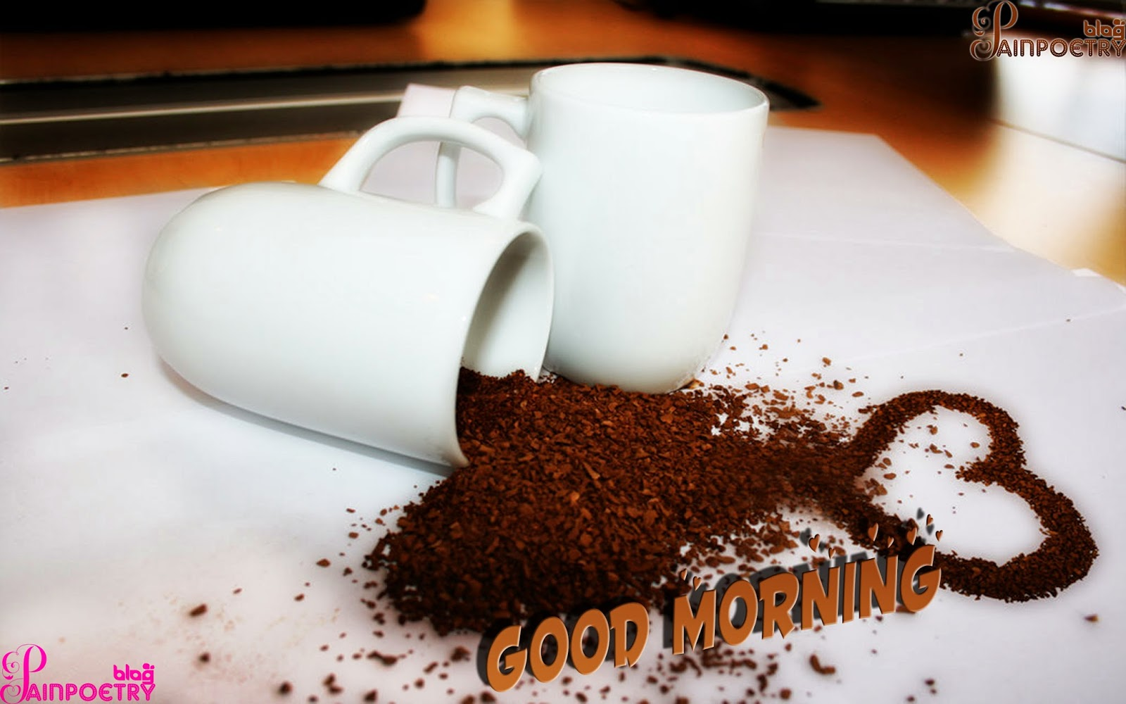 Good-Morning-Wishes-Wallpaper-With-Droped-Tea-Image-HD