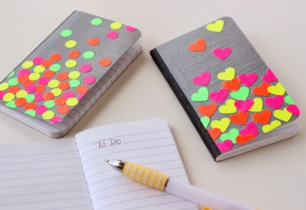 easy craft idea : decorate your book before school starts