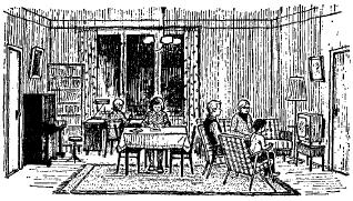 The Stogovs' Flat - Квартира Стоговых. The Stogovs in Their Living-Room - Стоговы в своей гостиной.