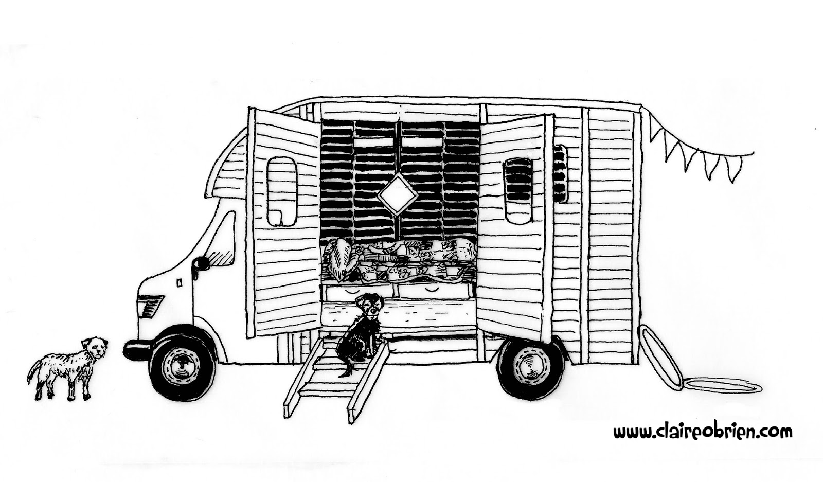 """Horsebox"" Ink by Claire O'Brien"